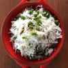 Jeera Rice Pulao with Kale & Green Peas