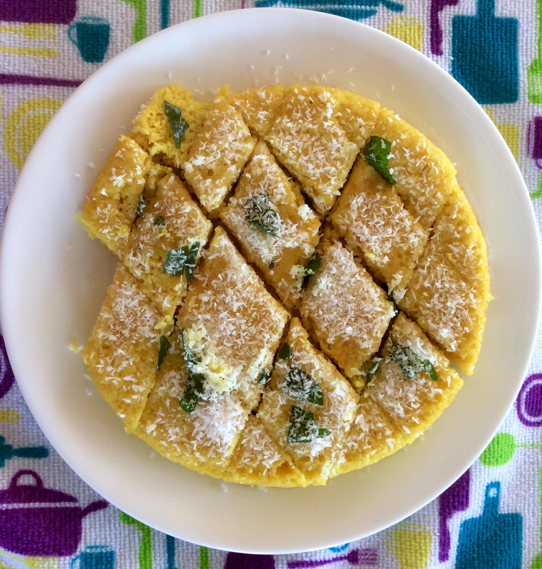 Photo of Vegan Chickpea Flour Savoury Pudding (Dhokla)