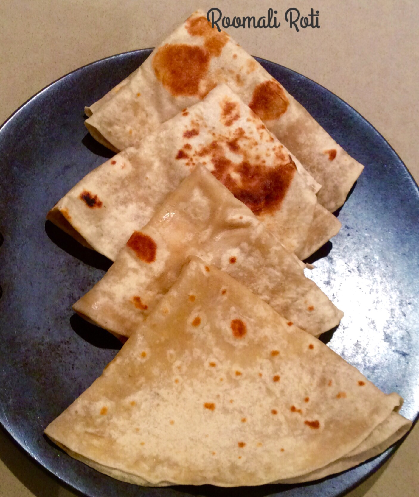 Vegan Roomali Roti - 5 Ingredients