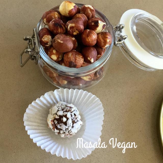 Vegan Hazelnut Chocolate Truffles
