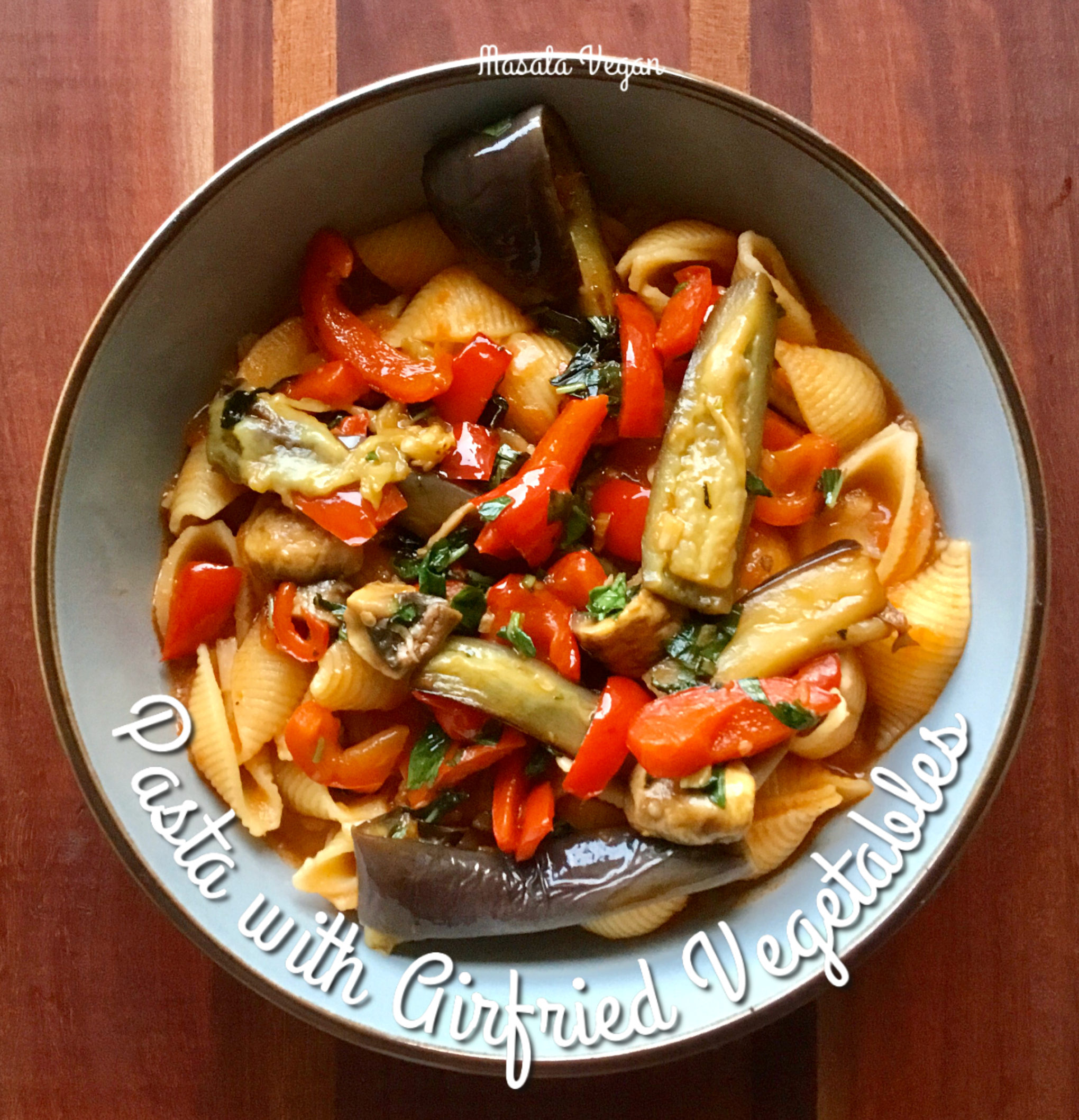 Picture of plate with Shell Pasta with Airfried Vegetables
